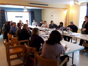 Les membres de la CDCT et de la CROC-AT en pleine discussion
